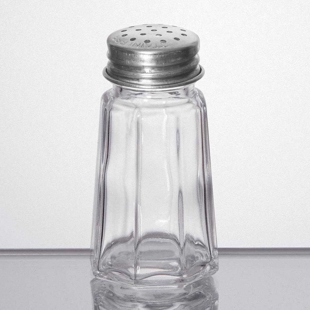 1 Oz. Flat Paneled Salt And Pepper Shaker
