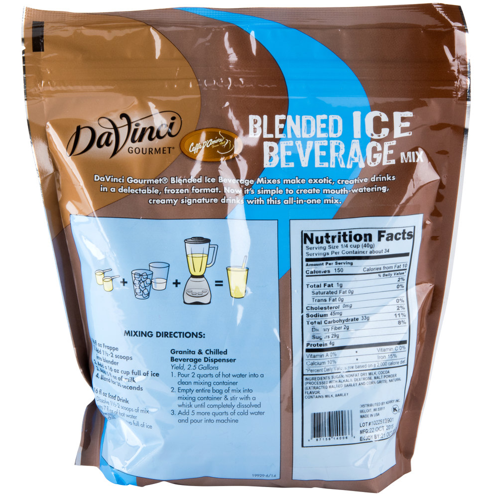 DaVinci Gourmet Ready to Use Frozen Hot Chocolate Mix - 3 lb.