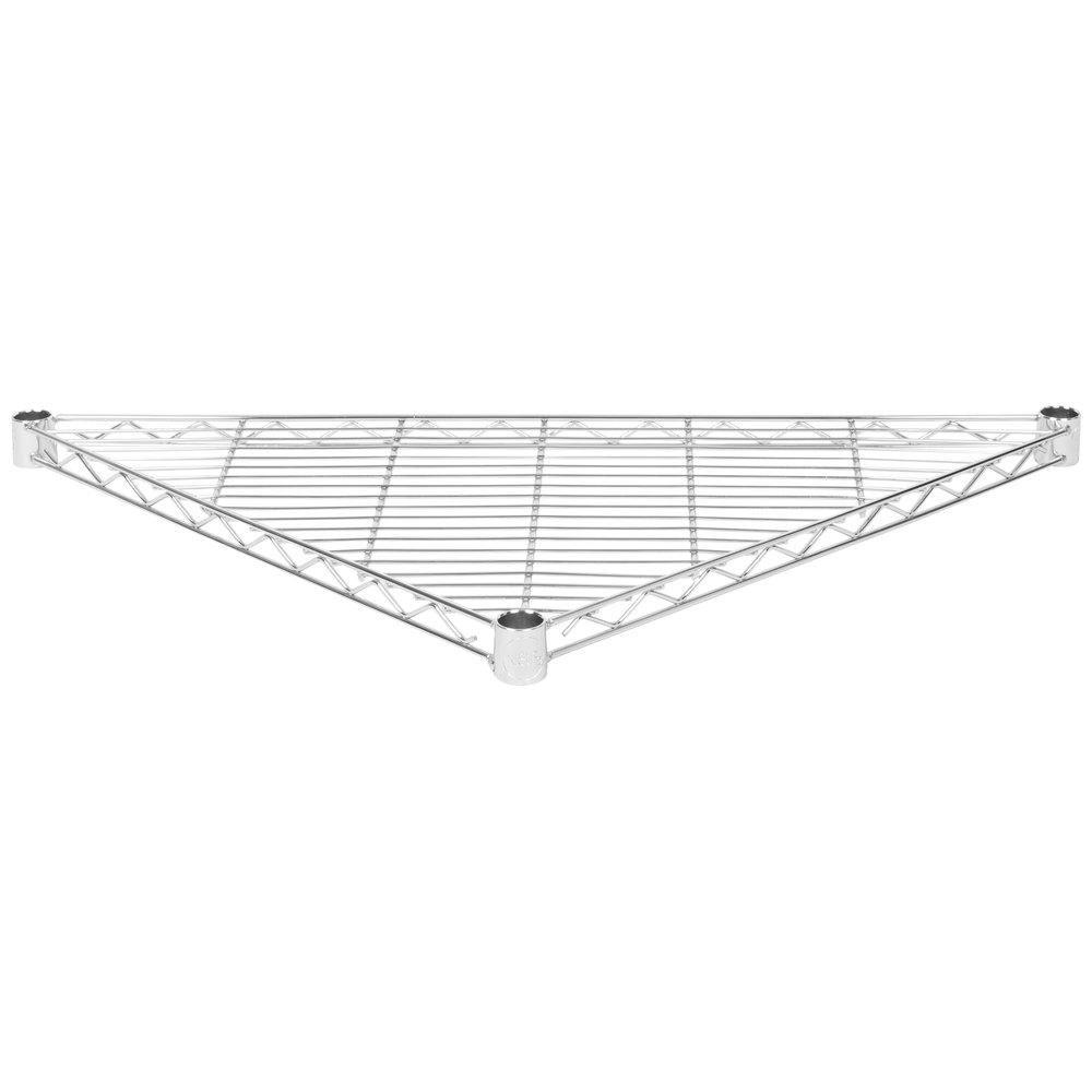 Regency 18 inch NSF Chrome Triangle Shelf