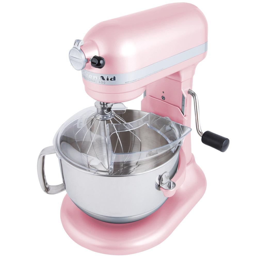 Pink Kitchen Aid Mixer Kitchenaid Kp26m1xpk Pink Professional 600 Series 6 Qt Countertop