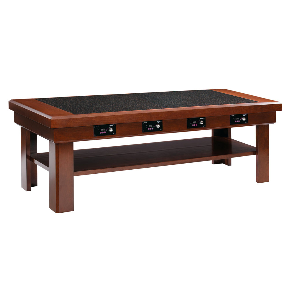 Vollrath 7552382 76 dark cherry induction buffet table for Table induction