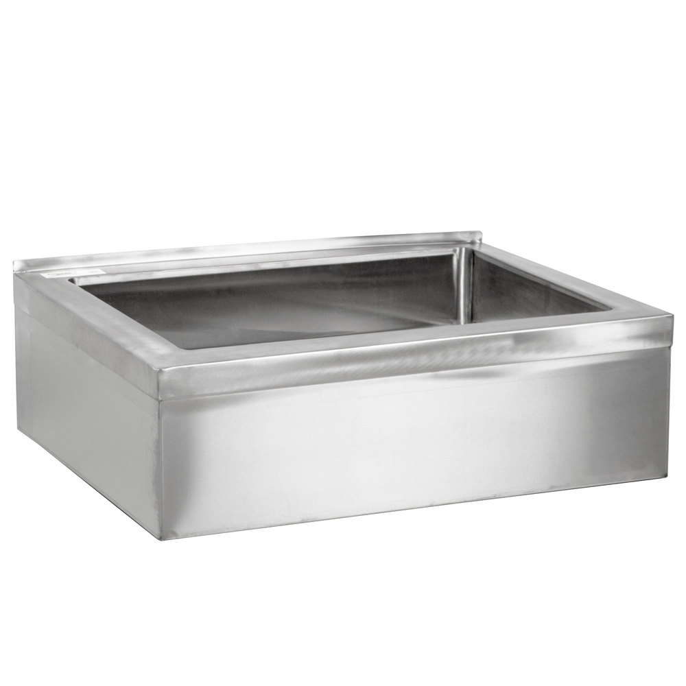 Regency 25 inch 16-Gauge Stainless Steel One Compartment Floor Mop Sink - 20 inch x 16 inch x 6 inch Bowl
