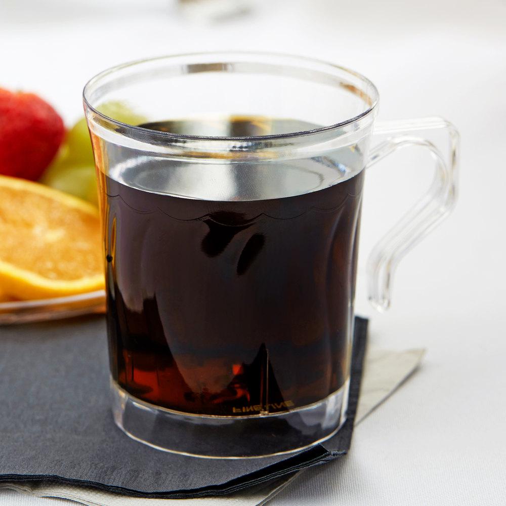 Fineline Flairware 208 Cl Clear 8 Oz Plastic Coffee Mug