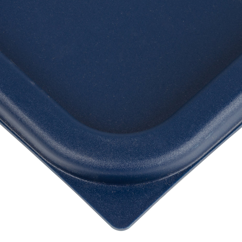 Cambro Sfc12453 Midnight Blue Square Polyethylene Lid For