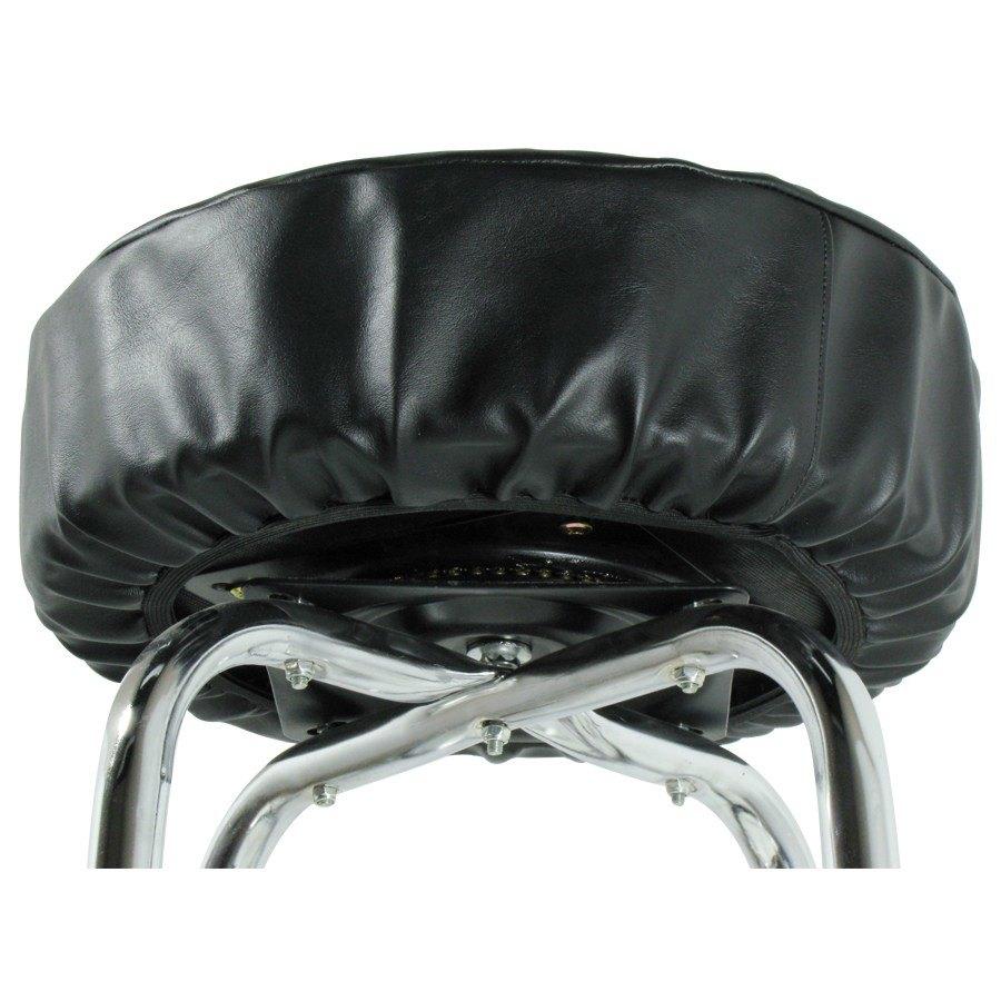 14 Quot Black Vinyl Bar Stool Seat Cover