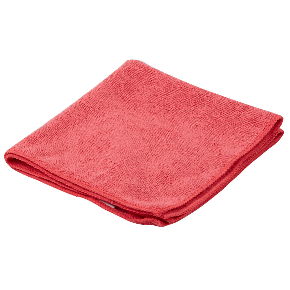 """Microfiber Cloth Guide: Carlisle 3633405 16"""" X 16"""" Red Terry Microfiber Cleaning"""
