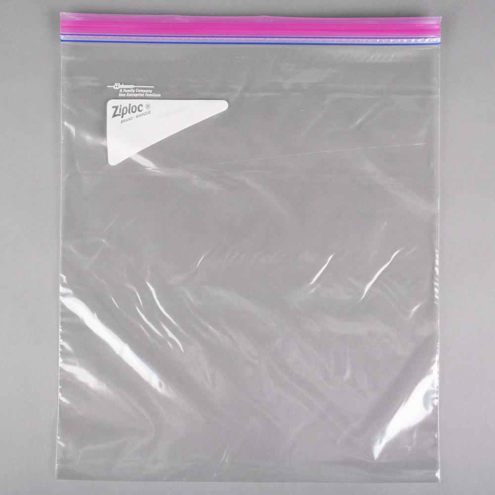 ... SC Johnson Ziploc® 682253 13 inch x 15 inch Two Gallon Storage Bag with Double & 2 Gallon Ziploc Bags - WebstaurantStore