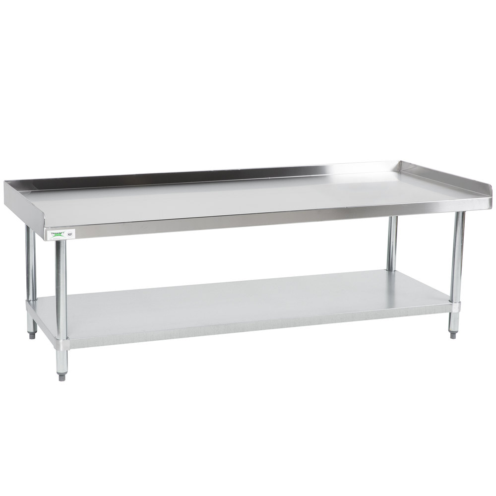 Regency 30 inch x 72 inch 16-Gauge Stainless Steel Equipment Stand with Galvanized Undershelf