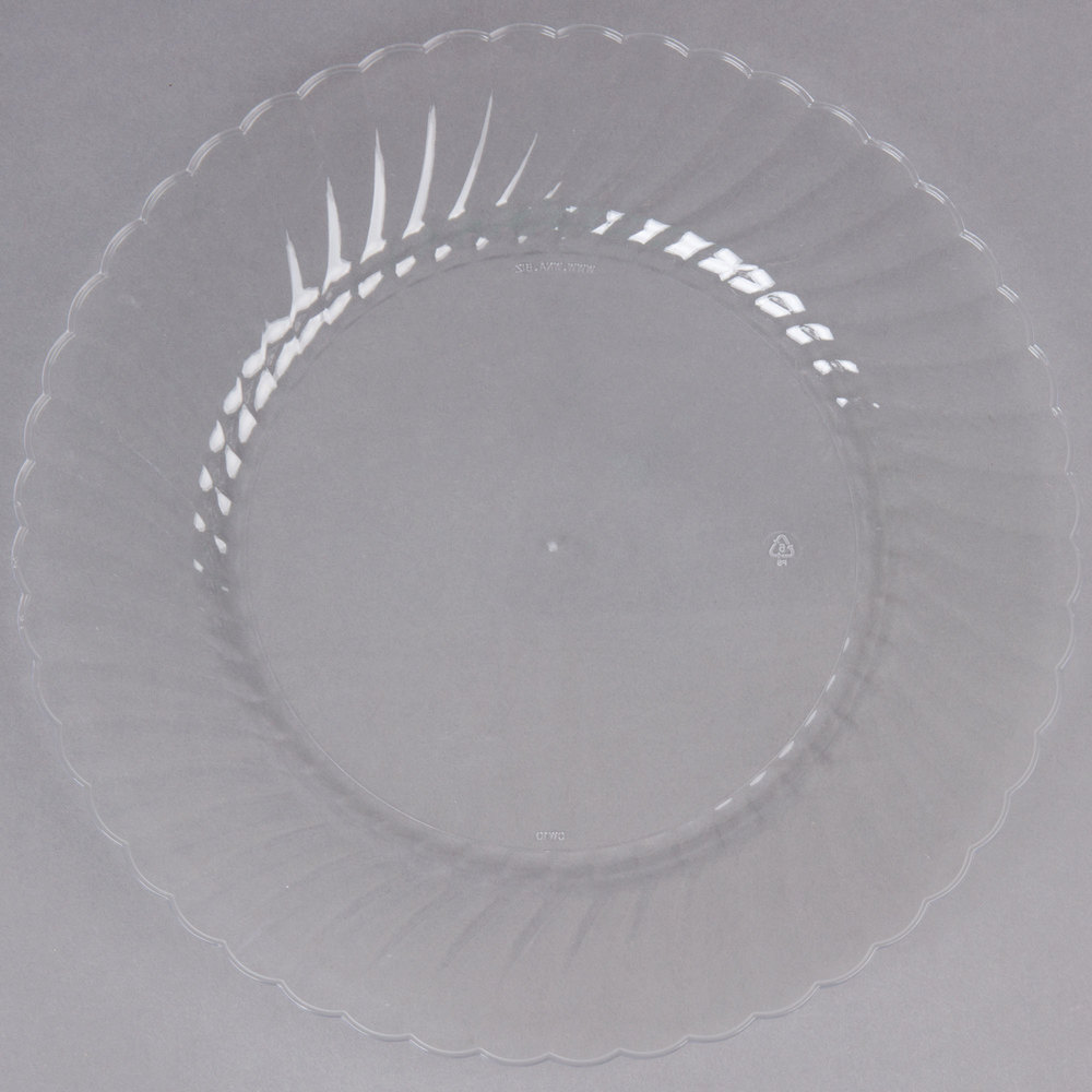 WNA Comet CW10144 Classicware 10 1/4 inch Clear Plastic Plate - 144/Case ... & WNA Comet | Disposable Wedding Plates