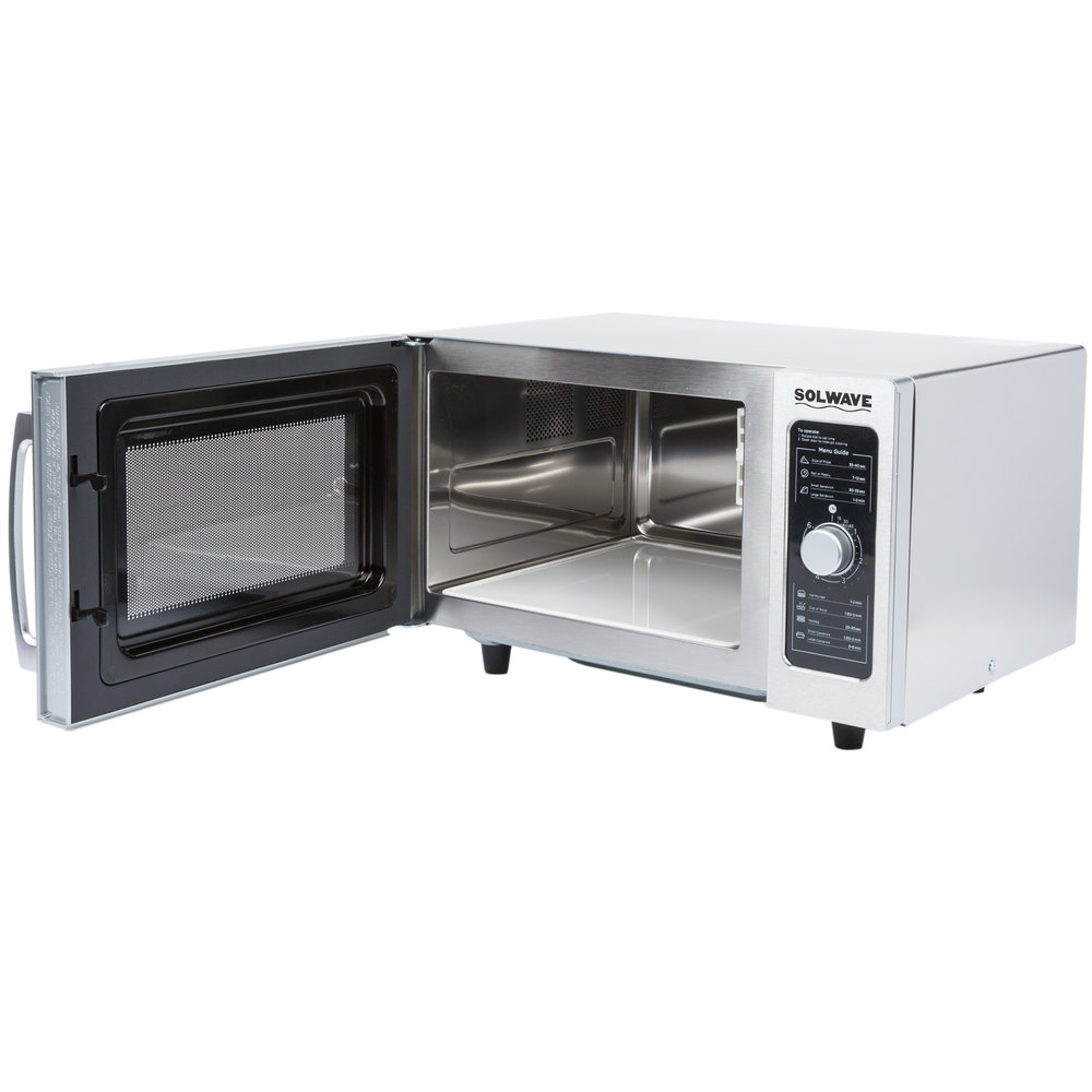 Large Microwave Oven For Sale: Solwave Stainless Steel Commercial Microwave With Dial