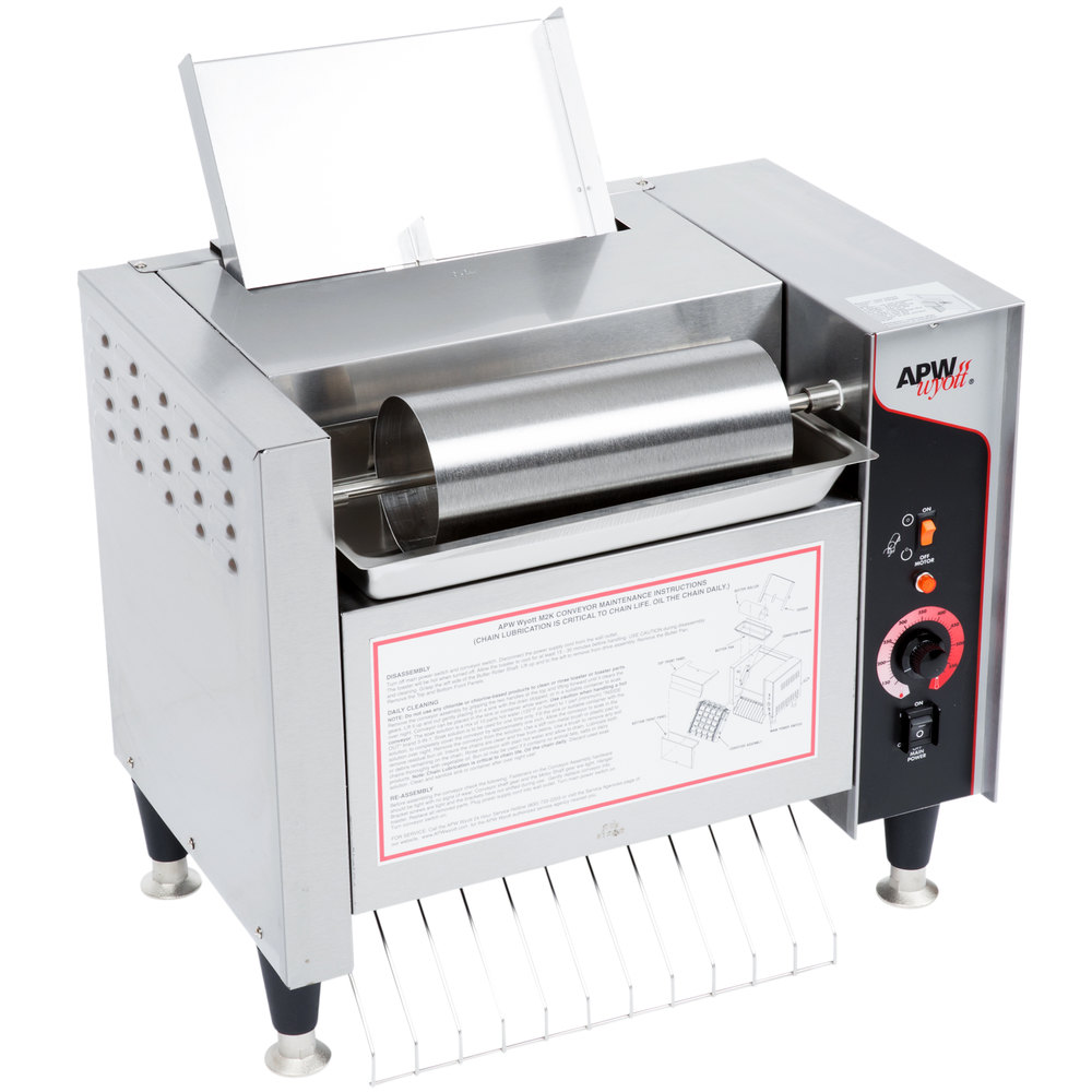 240v Apw Wyott M 2000 Vertical Conveyor Bun Grill Toaster