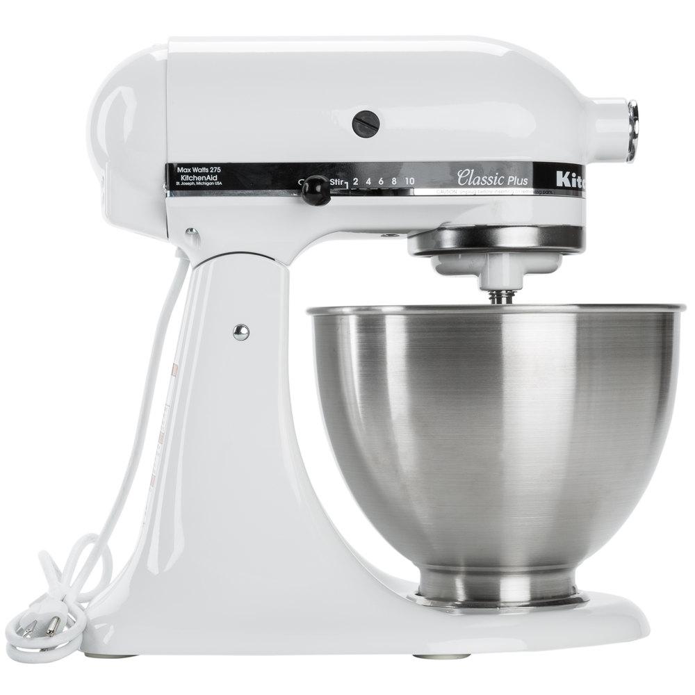 White Kitchenaid Mixer kitchenaid ksm75wh white 4.5 qt. countertop mixer
