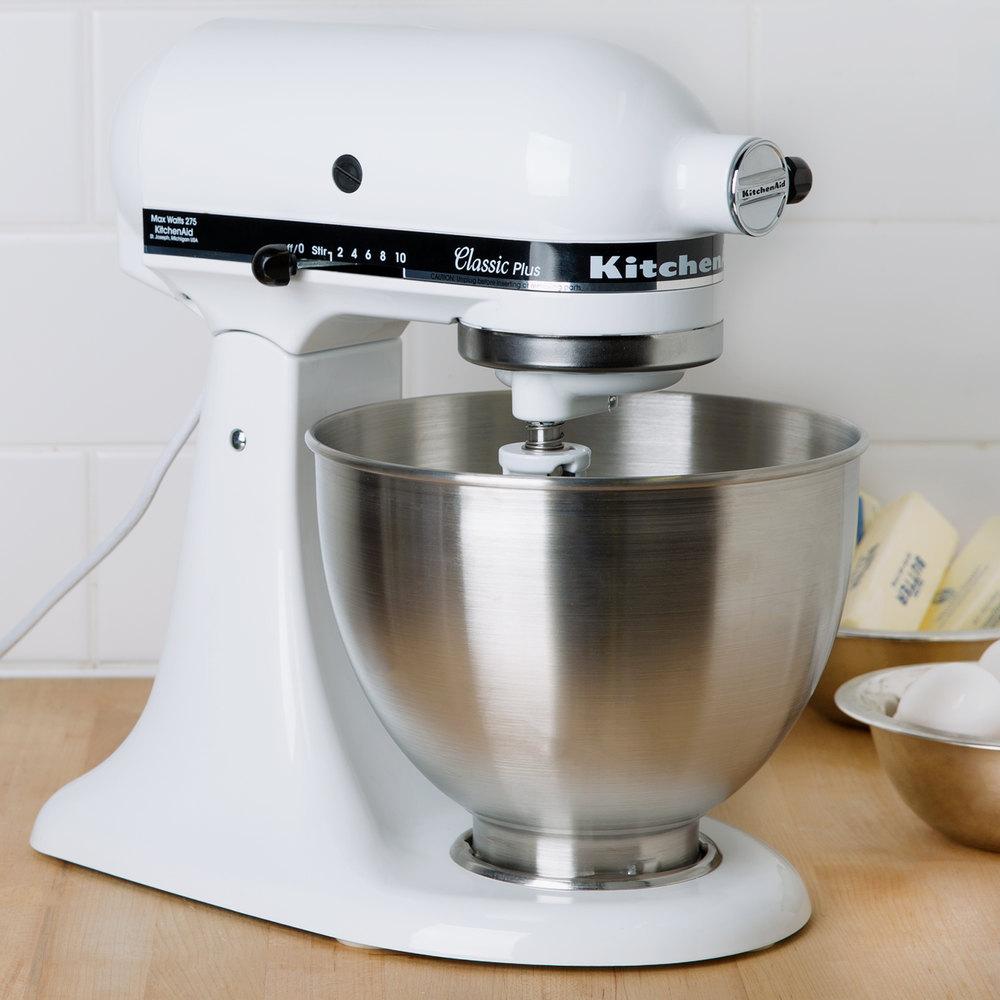 Kitchenaid ksm75wh white 4 5 qt countertop mixer - Kitchenaid qt mixer review ...
