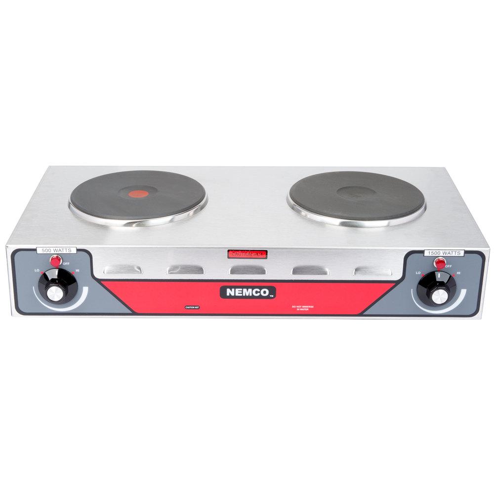Waring web300 single burner solid top countertop range