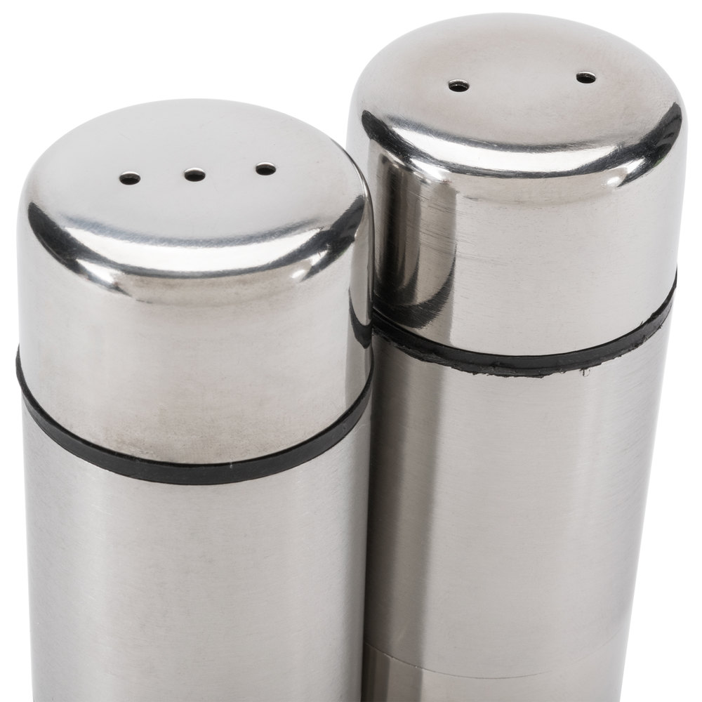 american metalcraft sp  oz stainless steel round salt and  - stainless steel round salt and pepper shaker set main picture · imagepreview · image preview · image preview