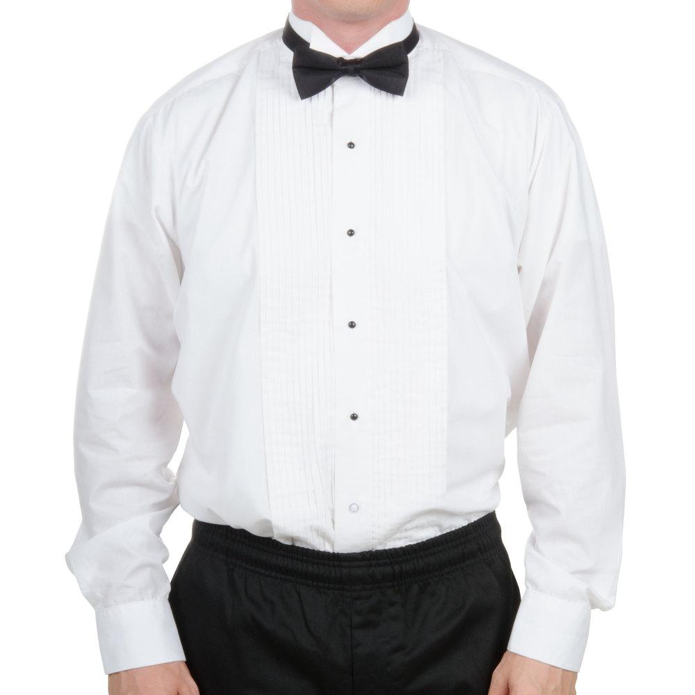 Tuxedo shirt men 39 s white large for Tuxedo shirts for men