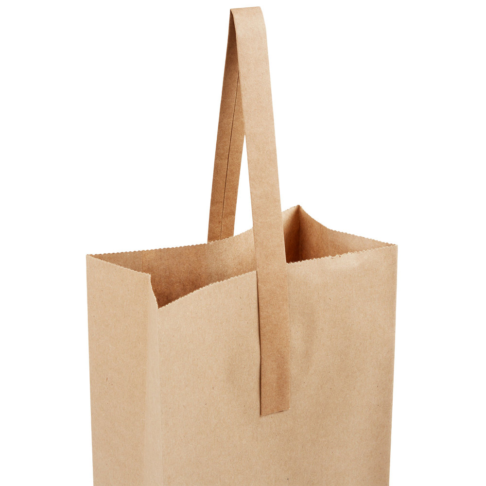 Paper Wine Bags With Handles: 2 Bottle Paper Wine Bag With Handle