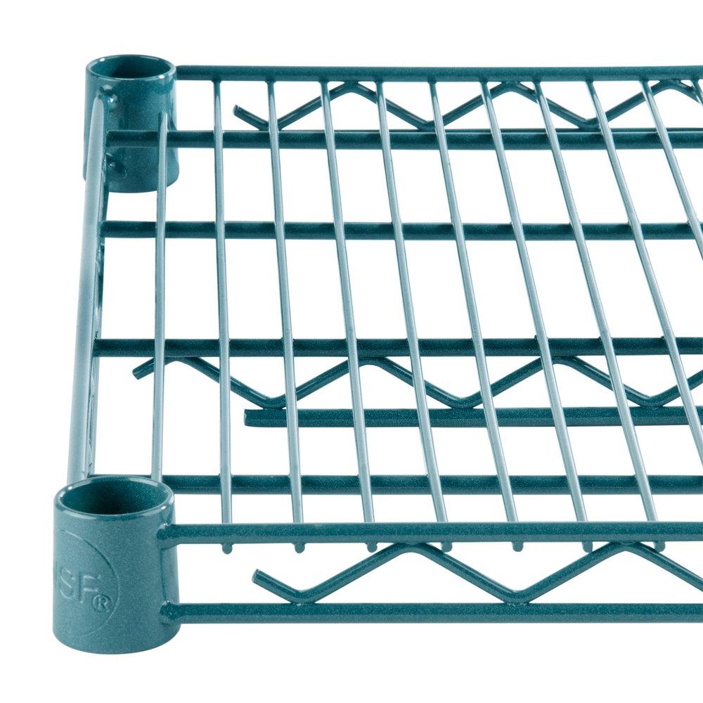 Regency 24 inch x 36 inch NSF Green Epoxy Wire Shelf