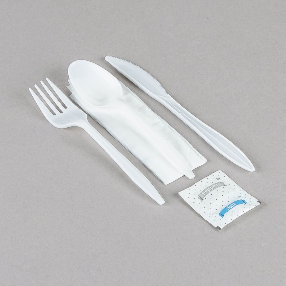 choice individually wrapped white medium weight plastic cutlery image preview