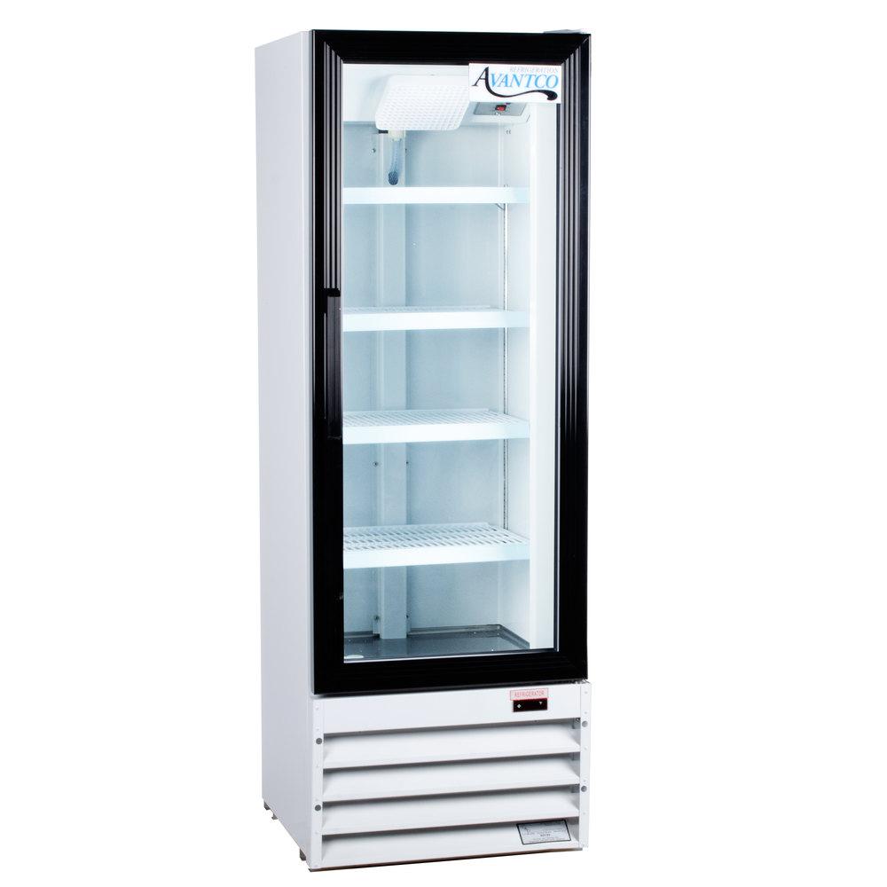 Avantco Gdc10 21 Quot White Swing Glass Door Merchandiser
