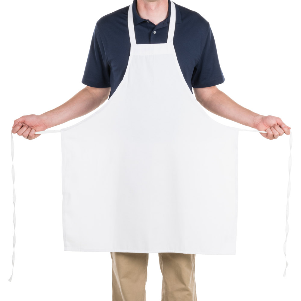Plain White Kitchen Apron Gotken Com Collection Of