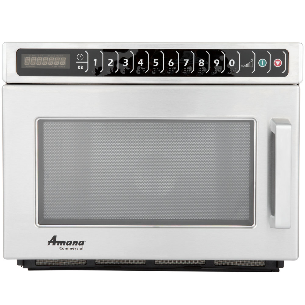 Heavy Duty Microwaves Amana Hdc212 Heavy Duty Stainless Steel Commercial Microwave 208