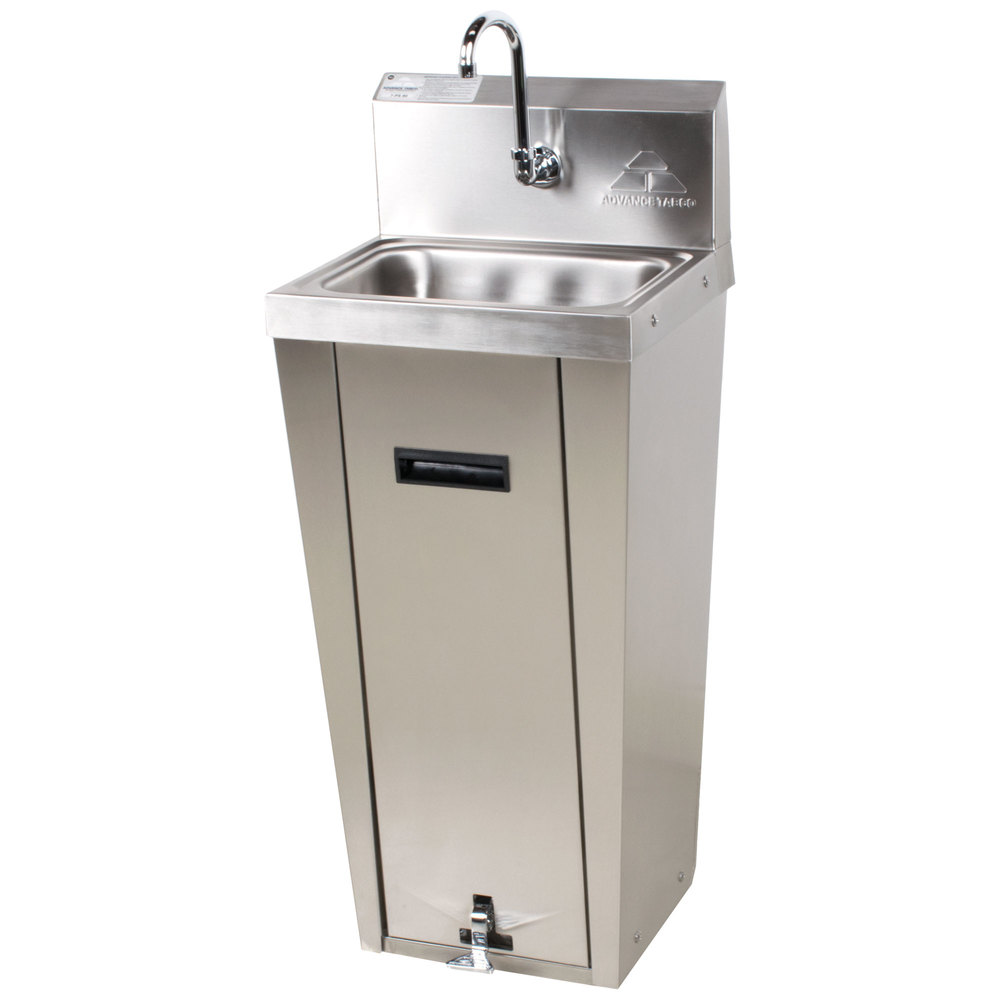 Advance Tabco 7-PS-90 Hands Free Hand Sink with Pedestal Base