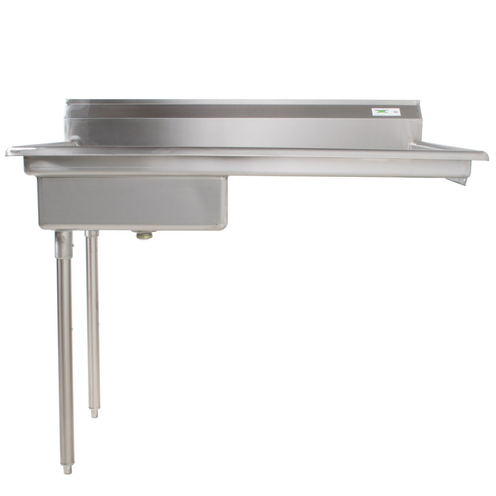 Left Regency 60 inch 16-Gauge Stainless Steel Soiled / Dirty Undercounter Dishtable