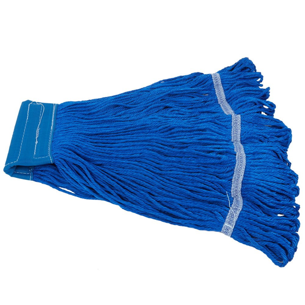 Small 16 Oz Microfiber String Mop Head With Blue 6 Quot Band