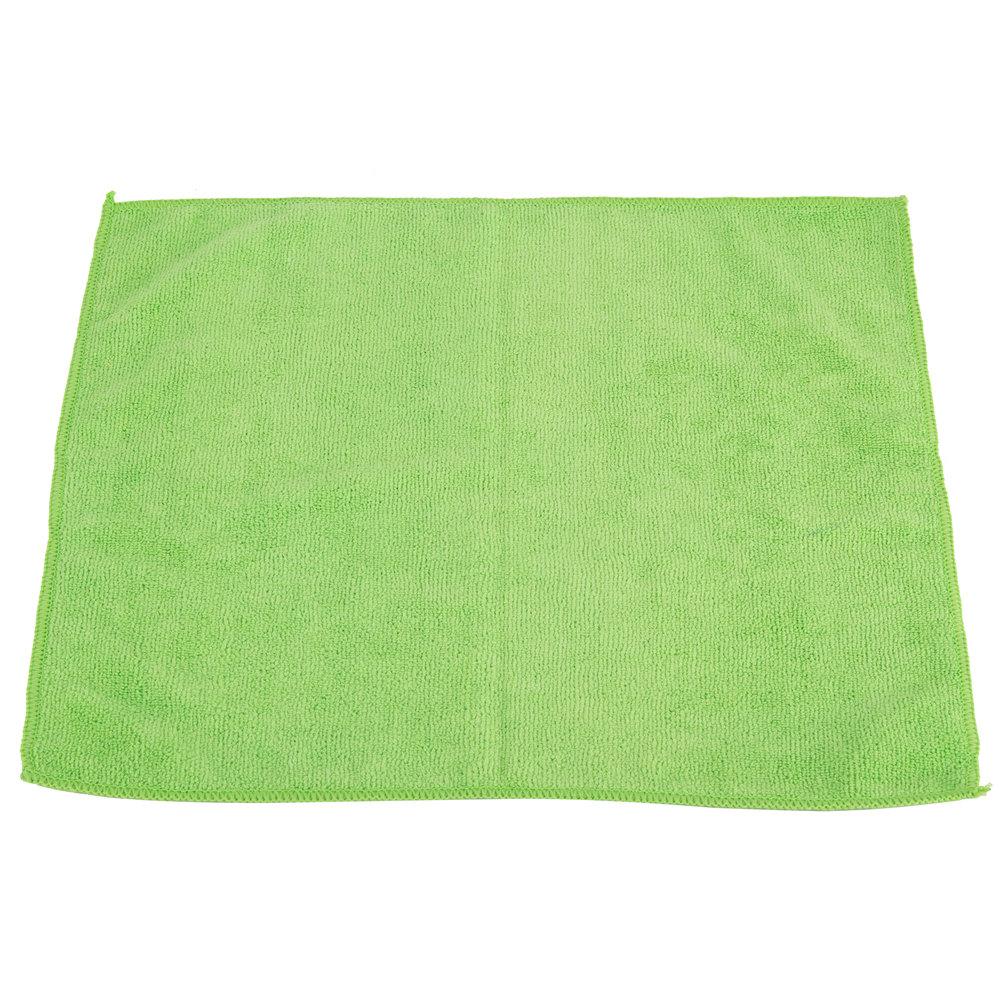 "Microfiber Cloth Guide: 16"" X 16"" Green Microfiber Cleaning Cloth"