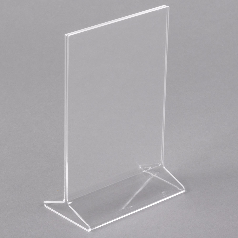 4 inch x 6 inch Acrylic Tabletop Displayette ... & Acrylic Table Tents | Acrylic Tabletop Sign Holders