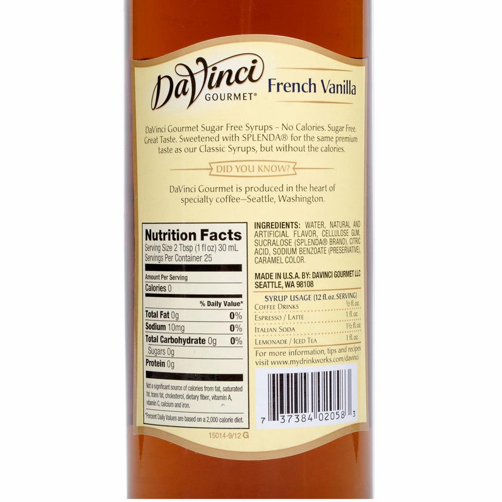 Torani Vanilla Syrup 750 25 4
