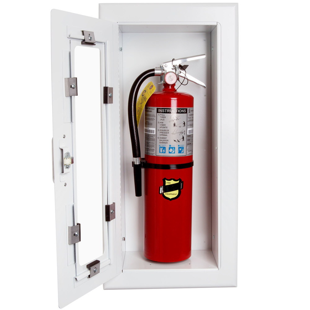 fire extinguisher cabinet strike el116 elite semi recessed extinguisher 15431