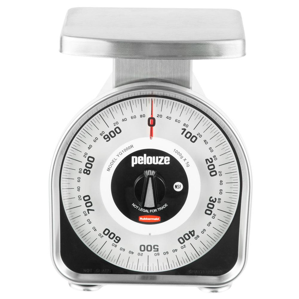 Rubbermaid Fgyg1000r Pelouze 1000 Gram Metric Mechanical