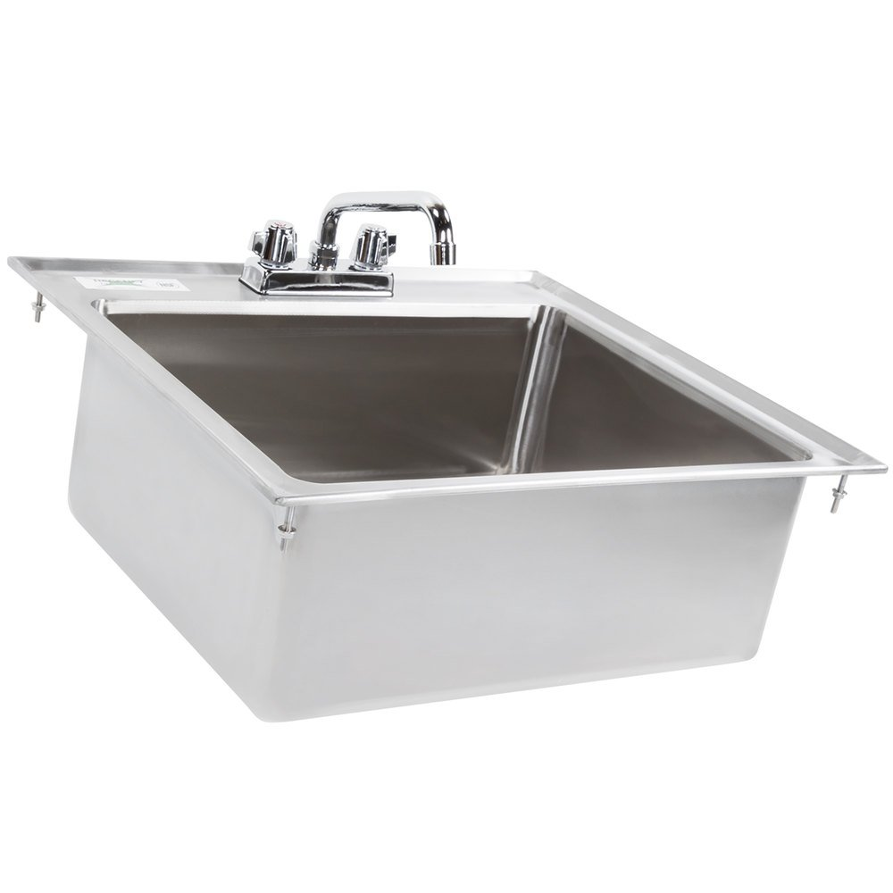 600di1208 regency - Stainless steel table with sink and faucet ...