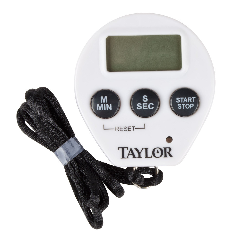Taylor 5816N Chefu0027s Professional Digital Kitchen Timer / Stopwatch With  Lanyard ...
