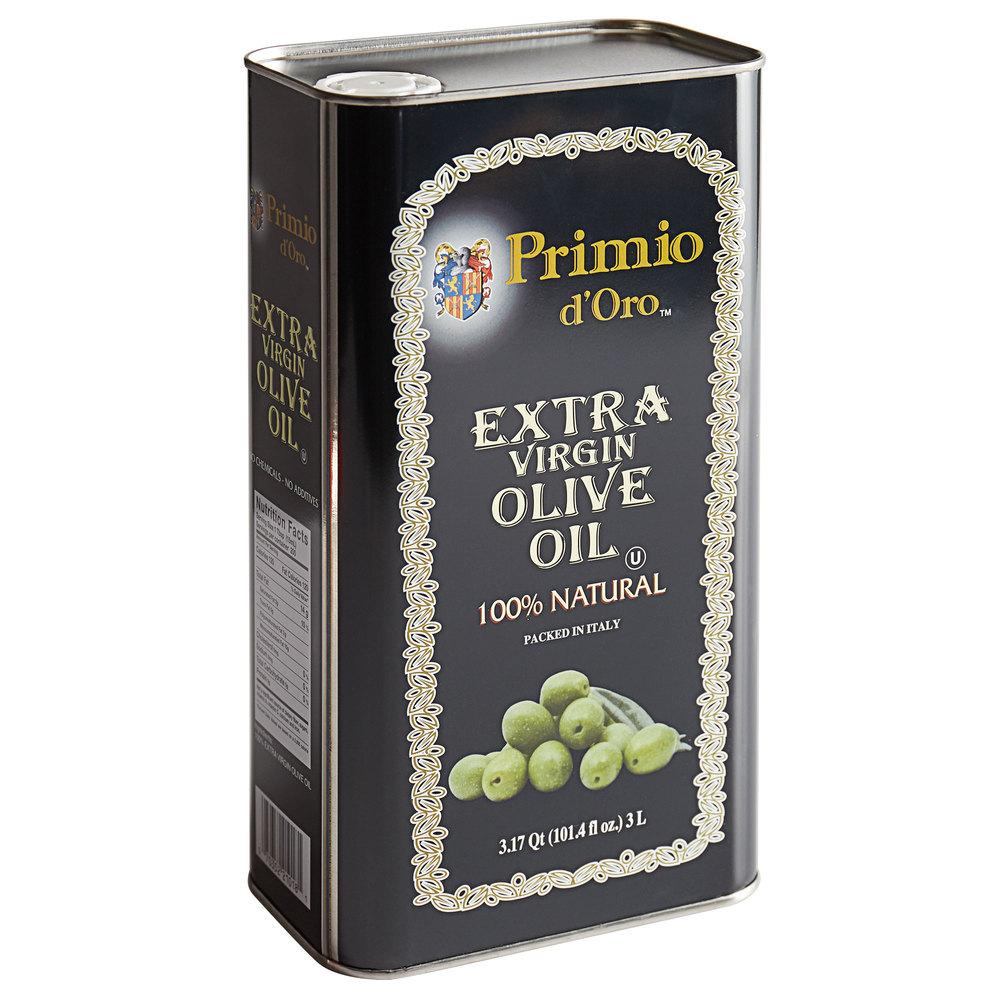 Tin of Primio d'Oro extra virgin olive oil