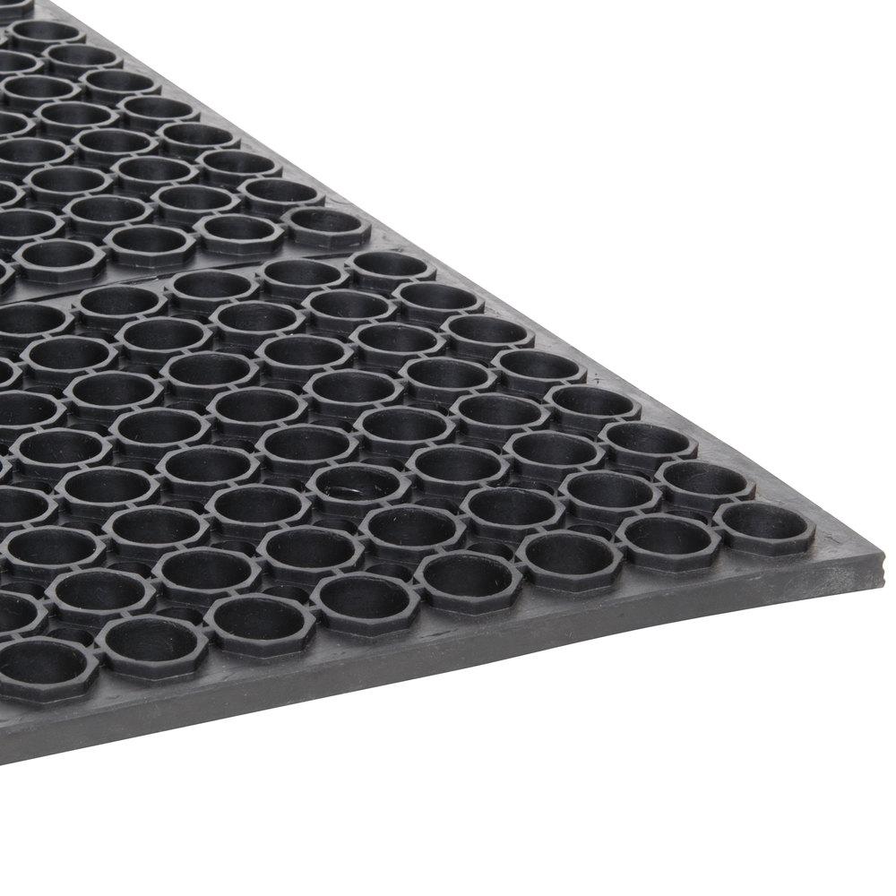 "3' x 5' black anti-fatigue floor mat - 3/4"" thick"