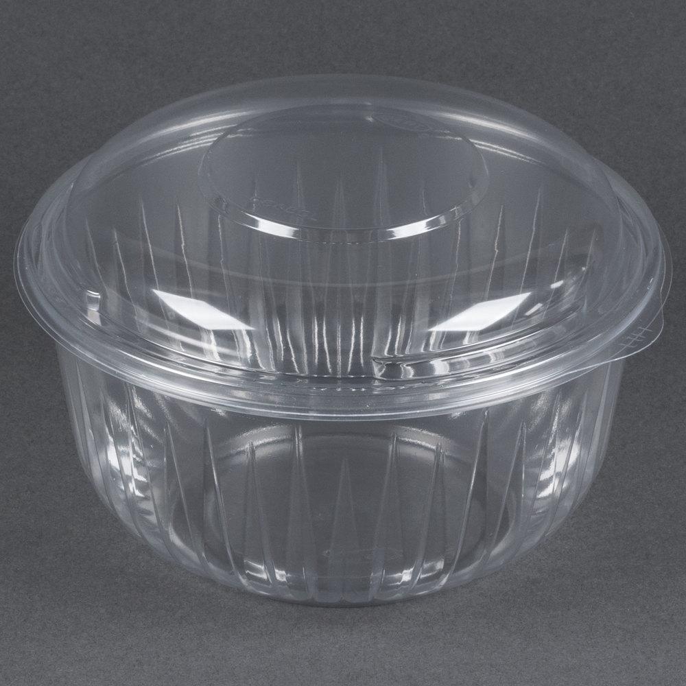 dart solo c48bcd presentabowls 48 oz clear plastic bowl with dome lid 126 case. Black Bedroom Furniture Sets. Home Design Ideas