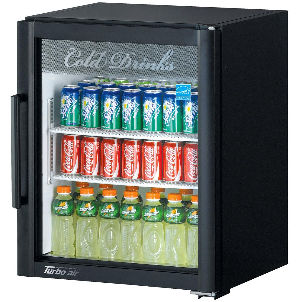 Turbo Air Tgm 5sdb N Super Deluxe Black Countertop Display Refrigerator With Swing Door