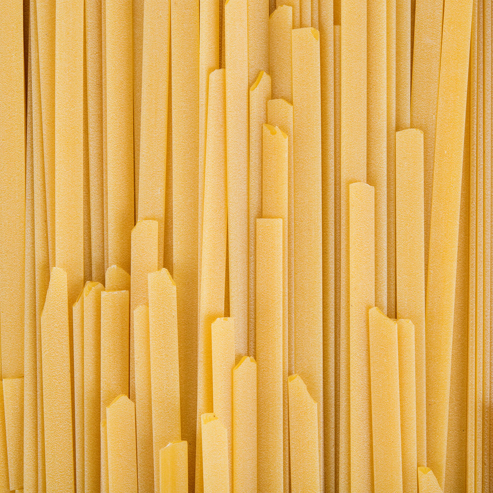 Close up of white pasta