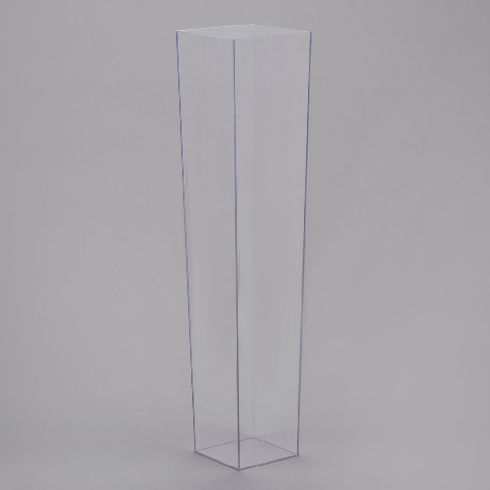 Cal mil 879 24 5 x 24 square clear acrylic accent display vase main picture reviewsmspy