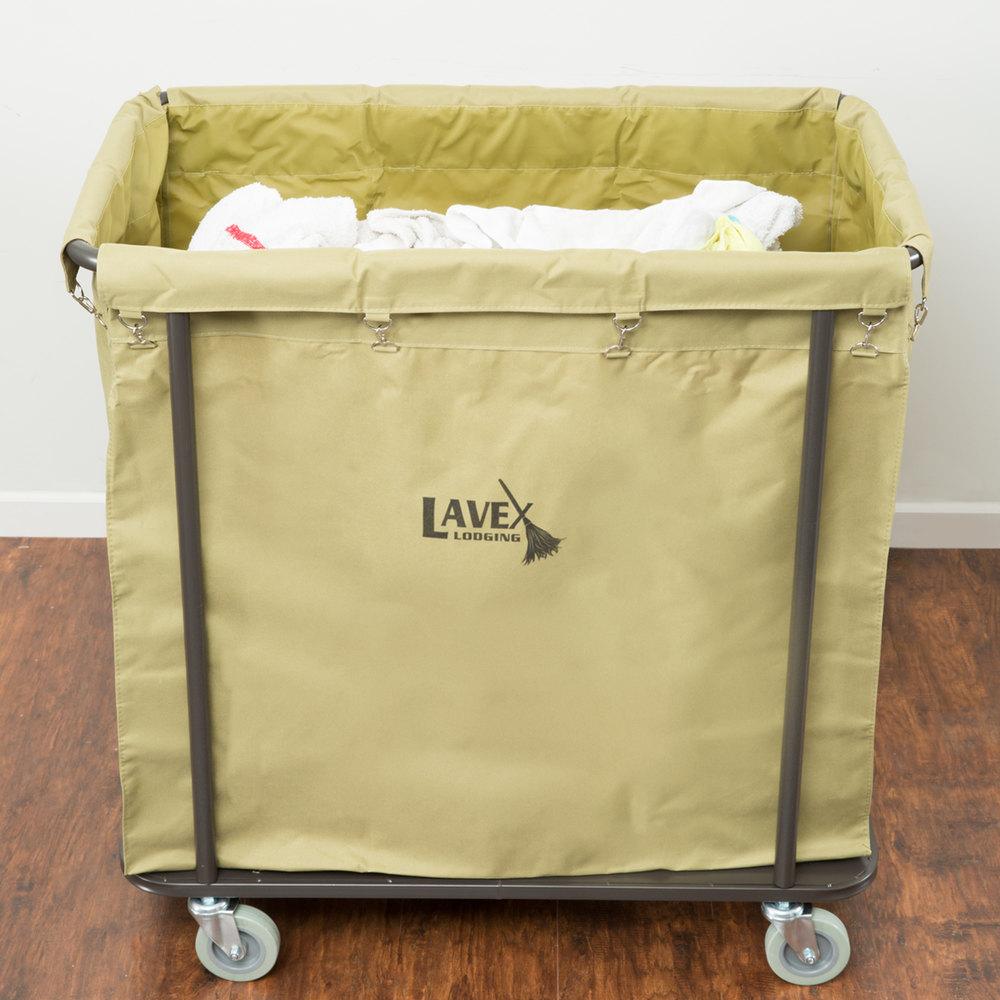 Lavex Lodging 14 Bushel Metal Frame Laundry Trash Cart
