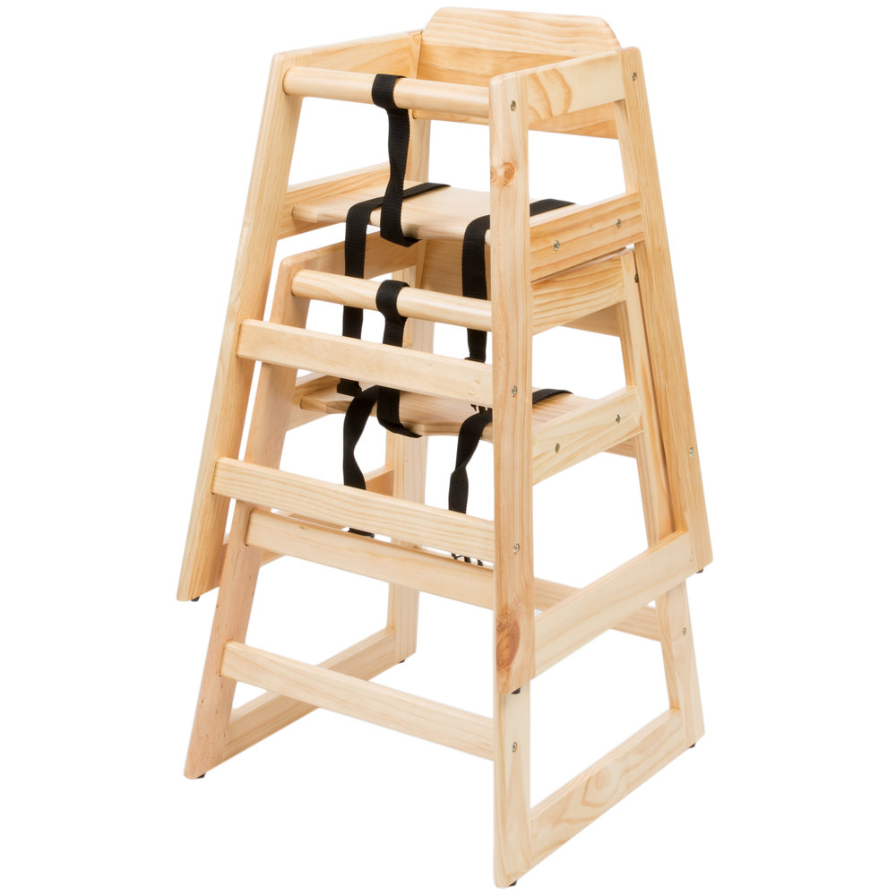 Dining High Chairs: Lancaster Table & Seating Natural Finish Stacking
