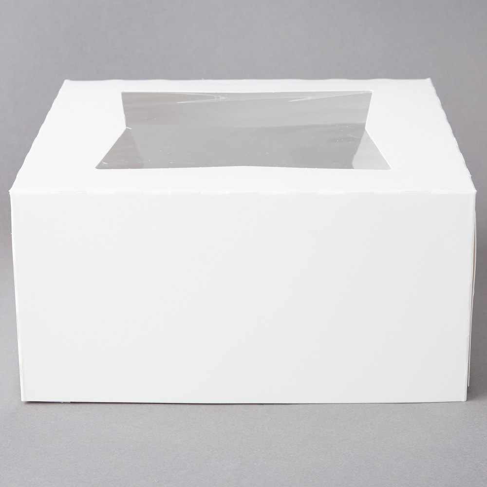 10 count WHITE  18-1//2x14-1//2x5 Bakery or Cake Box