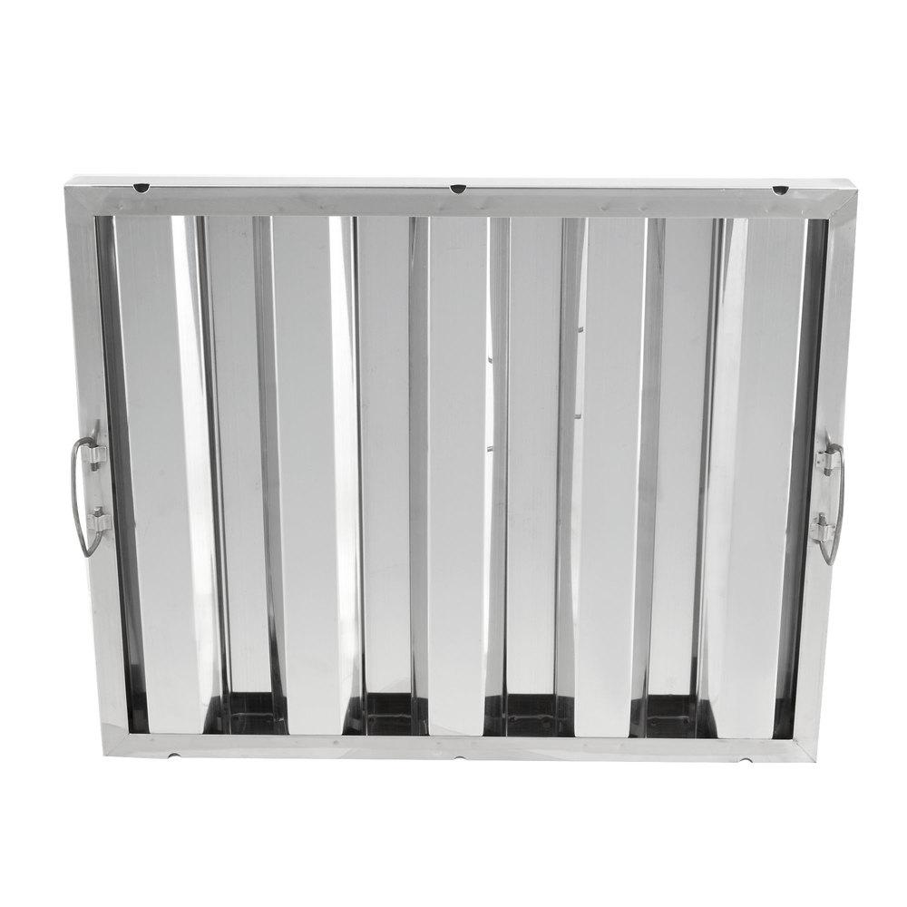 Regency 16 inch x 20 inch x 2 inch Stainless Steel Hood Filter