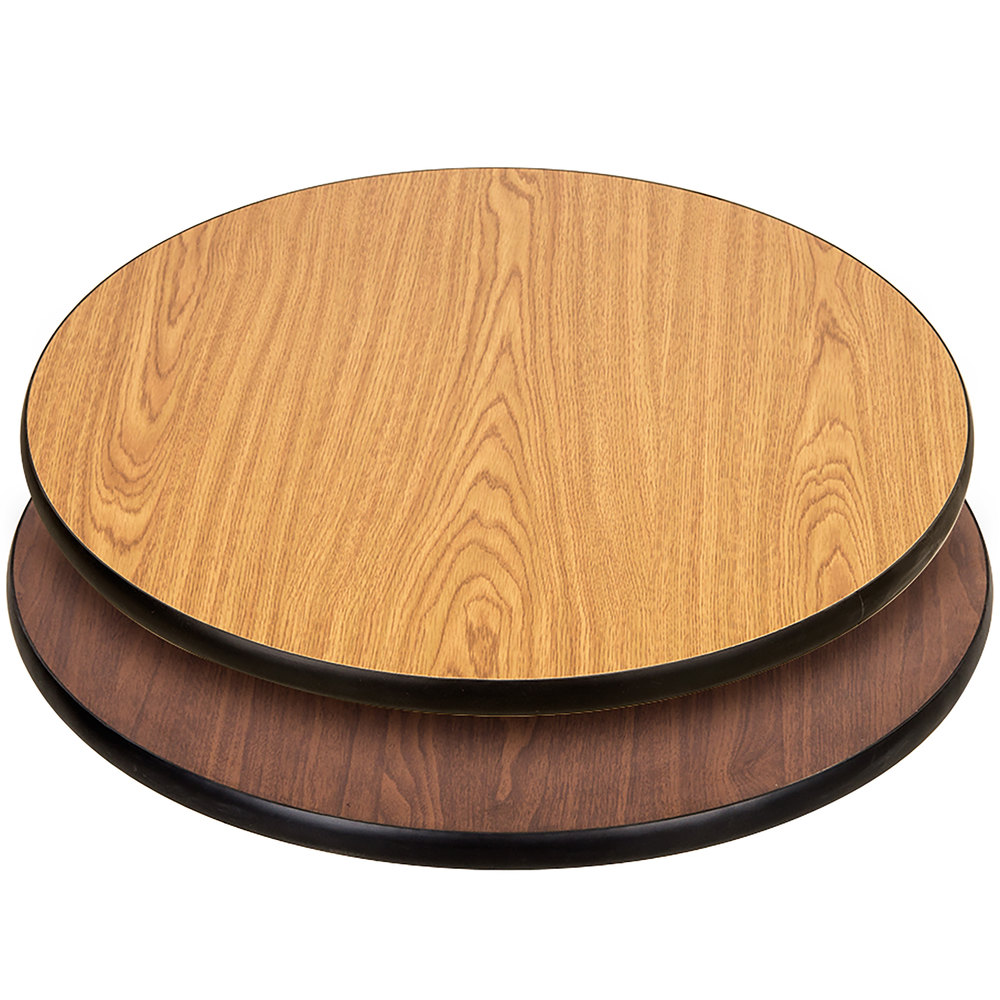 Lancaster Table U0026 Seating 30 Inch Laminated Round Table Top Reversible  Walnut ...