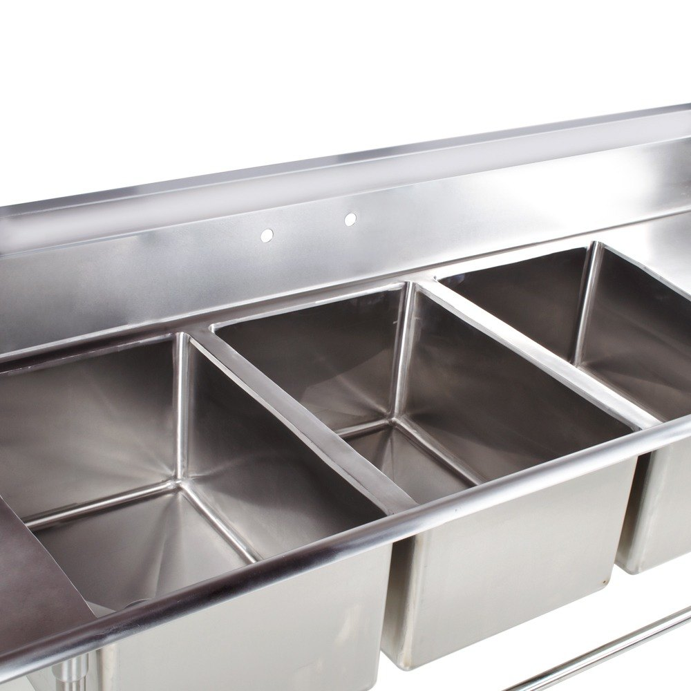 main picture image preview image preview - Three Compartment Kitchen Sink