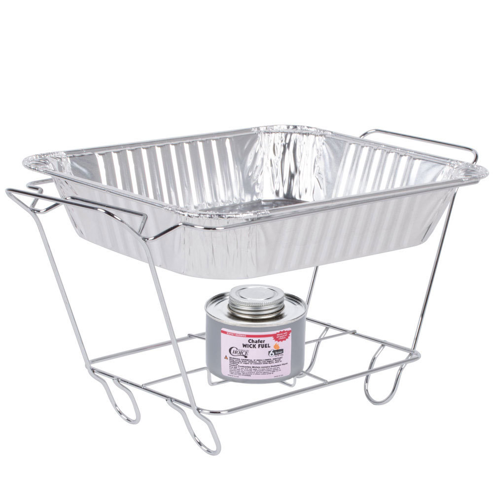 Disposable Food Warmers ~ Cover the chafing dish wire racks sternos and