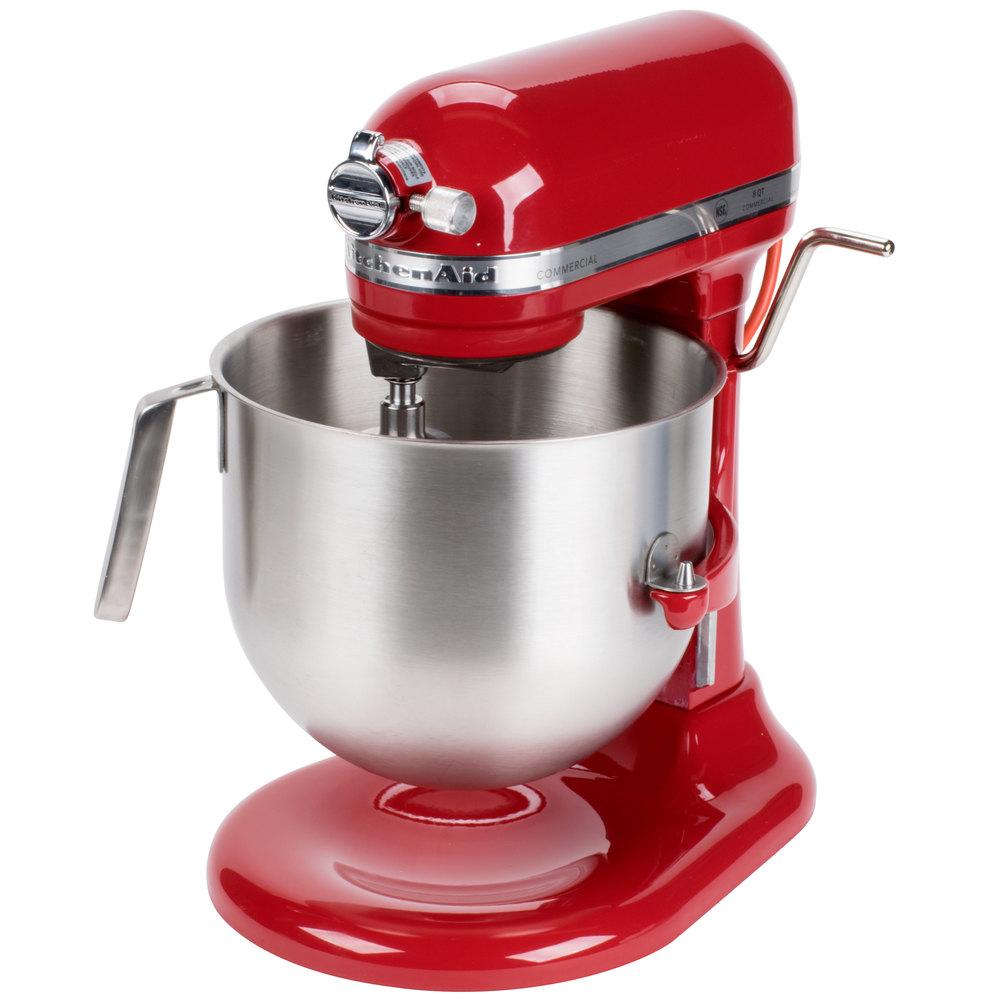 red kitchenaid 8 qt. commercial mixer ksm8990er | webstaurantstore